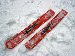 With Cross-Country Ski Bindings