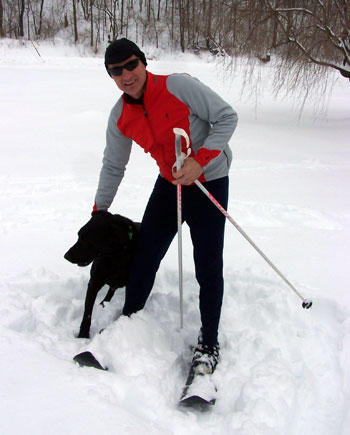 Tim Musser, member of the Kick'n Gliders Nordic Ski Club, at Barnes Corners Ski Trails in Tug Hill State Forest, northern New York